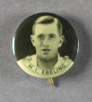 Badge with image of Hans Ebeling, 1934