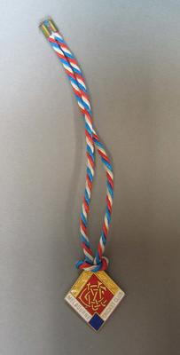 MCC Membership Badge, diamond-shaped with red, white and blue cord - no date