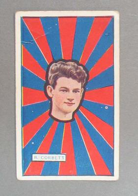 1921 Magpie Cigarettes [J.J. Schuh Tobacco Co Pty. Ltd, Melbourne] Australian Footballers - Victorian League  -  R Corbett trade card