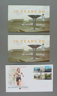 Commemorative Australia Post philatelic set, '1956 Olympics, 50 Years On'