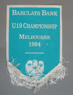 Pennant,  Barclays Bank Under 19 Cricket Championship - Melbourne 1994