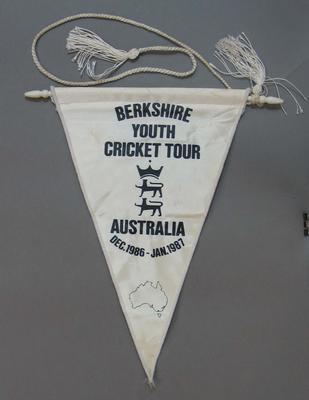 Pennant, Berkshire Youth Cricket Tour - Australia, Dec 1986 - Jan 1987