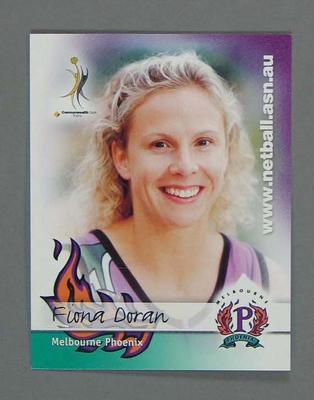 Melbourne Phoenix Netball team swap card of Fiona Doran.