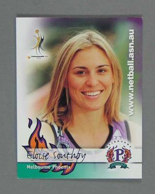 Melbourne Phoenix Netball team swap card of Eloise Southby
