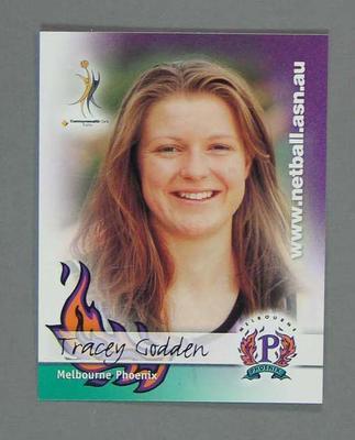 Melbourne Phoenix Netball team swap card of Tracey Godden