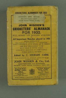 Wisden Cricketers' Almanack, 1932
