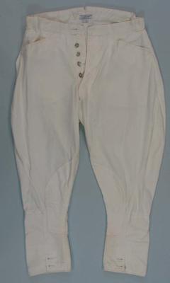 Cream jodhpurs, part of formal riding suit