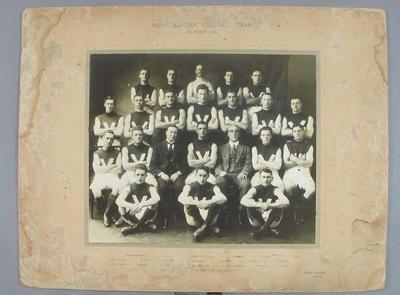 Photograph of Victorian Representative Football Team, Sydney - 1921; Photography; 2008.263.7