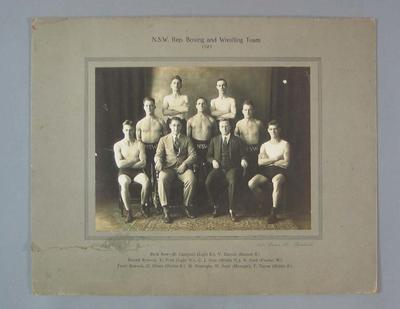 Photograph - N.S.W. Rep. Boxing and Wrestling Team 1925; Photography; 2008.228.4