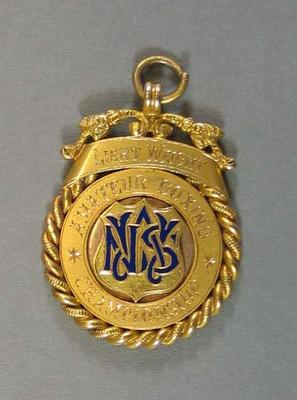 Medallion - Lightweight Amateur Boxing Championships - won by H. Campbell 1925; Trophies and awards; 2008.228.7