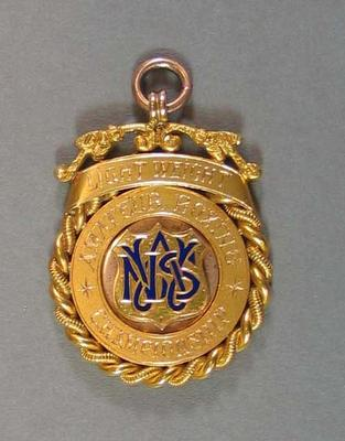Medallion - Lightweight Amateur Boxing Championships - won by H. Campbell 1927; Trophies and awards; 2008.228.9