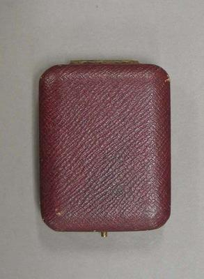Brown medallion case used to house medallions awarded to boxer, Harry Campbell.