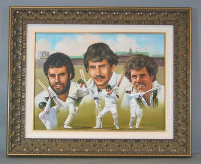 Framed original painting - The Chappell Brothers - artist Dave Thomas, 2000