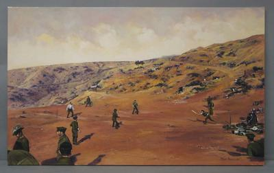 Painting, original - Cricket at Shell Green, Gallipoli 1915 - by artist Dave Thomas 2003