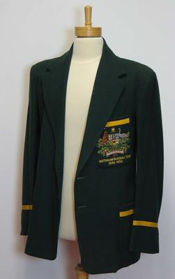 Australian baseball team blazer, issued to Reg Darling; Clothing or accessories; N2009.86