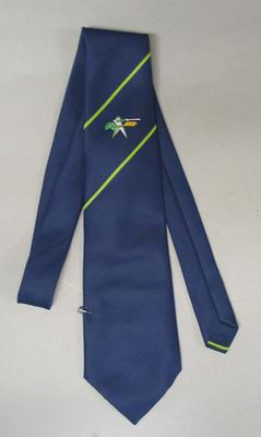 Australian Baseball Federation tie, issued to Reg Darling