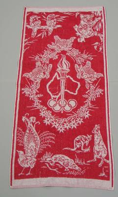 Towel, 1956 Melbourne Olympic Games design