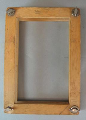 Wooden tennis racquet press, Northwood Brand