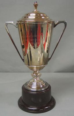 Trophy awarded to Betty Cornwell 1937 - Ladies Championship of Australia, National Ice Skating Association of Australia