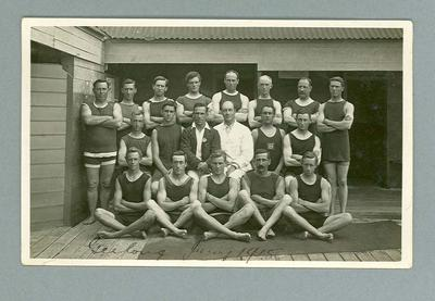 Postcard, image of swimmers at Geelong Teacher's Camp in 1915