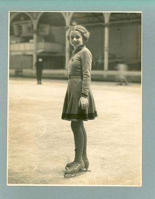 Photograph -  ice skater Betty Cornwell at Glaciarium Melbourne
