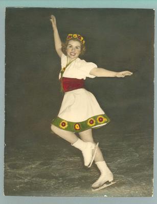 Photograph -  ice skater Betty Cornwell