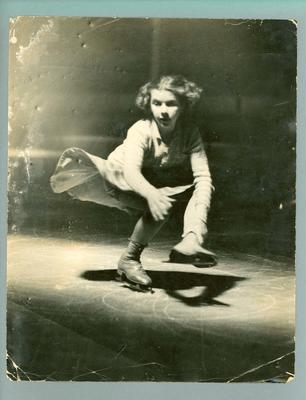 Photograph -  ice skater Betty Cornwell