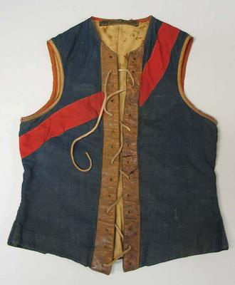 Melbourne Football Club jerkin supposedly worn by Edward Norcliffe Gabbett in 1906.