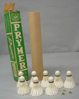 Box of shuttlecocks, Prymer brand