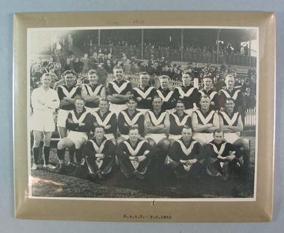 Photograph of RAAF Football Club, 1942; Photography; N2009.93.4