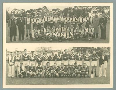 Photograph of combined M.F.L.S.E.A and Dandenong  Football Clubs, 1951