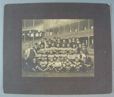 Photograph of unknown football club, undated; Photography; N2009.93.7
