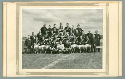 Photograph of Coburg Football Club in Tasmania, 1938; Photography; N2009.93.8