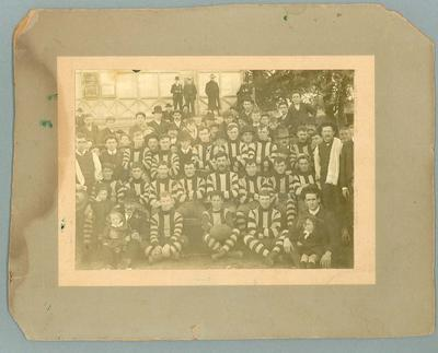Photograph of unknown football team, undated