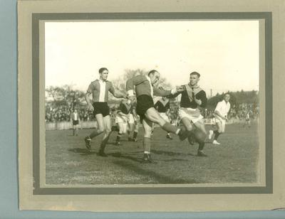 Photograph of Preston FC v Northcote FC football game, 1937