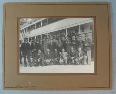 Photograph of Coburg Football Club, 1938 End of Year Trip to Tasmania