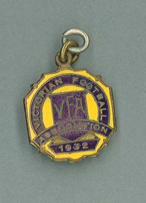 Membership medallion, Victorian Football Association - 1932 season