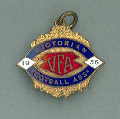 Membership medallion, Victorian Football Association - 1936 season