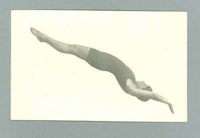 Postcard, image of diver at full stretch