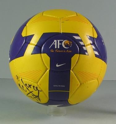 Soccer ball, used during Australia v Japan FIFA World Cup Asian Qualifier - 17 Jun 2009
