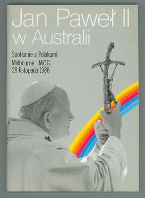 Programme, 1986 Papal Visit