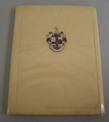 Invitation book, Melbourne's Bid for 1956 Olympic Games