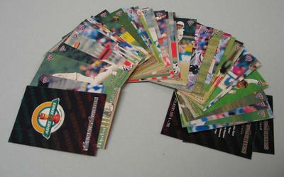 Set (40) of tradecards, Australia versus England Ashes Series from 1993/1994 - 1 card misprinted.