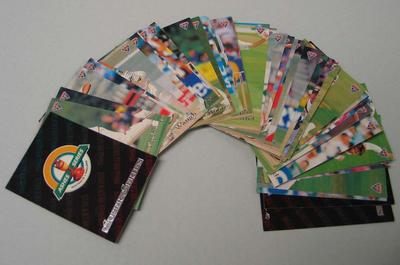 Set (40) of tradecards, Australia versus England Ashes Series from 1993/1994
