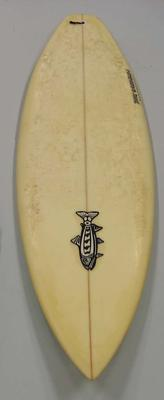 Surfboard used by Layne Beachley to win her first World Championship in 1998.