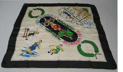 Silk scarf, 1956 Melbourne Olympic Games design