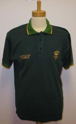 Polo shirt worn by Vern Barberis, 1956 Olympic Games Team Reunion - June 2004