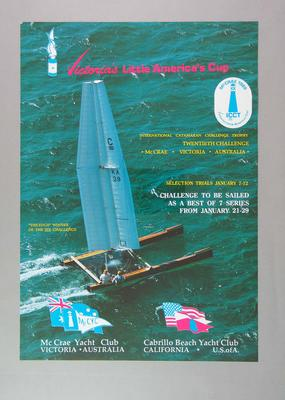 "Poster - Little America's Cup International Challenge for ""C"" Class Catamarans 1989"