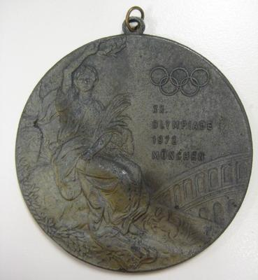 Medallion from Munich Olympic Games, 1972