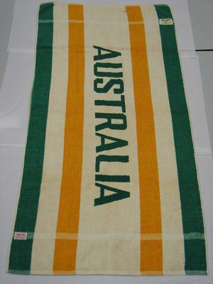 Australian team towel, 1956 Olympic Games